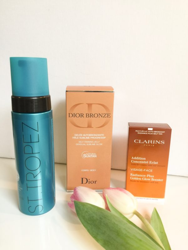 Self-tanning products from St. Tropez, Dior and Clarins