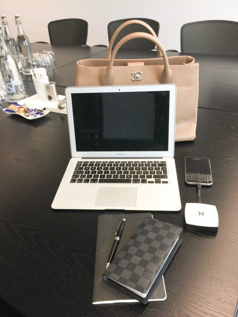 Work bag with laptop