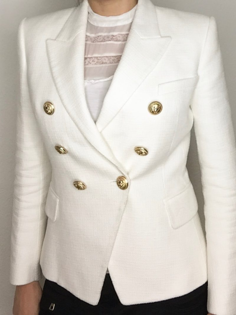 Beige Balmain Blazer with golden buttons