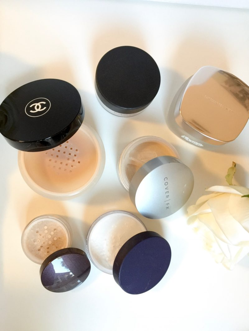 Loose powder chanel, cover FX, laura mercier