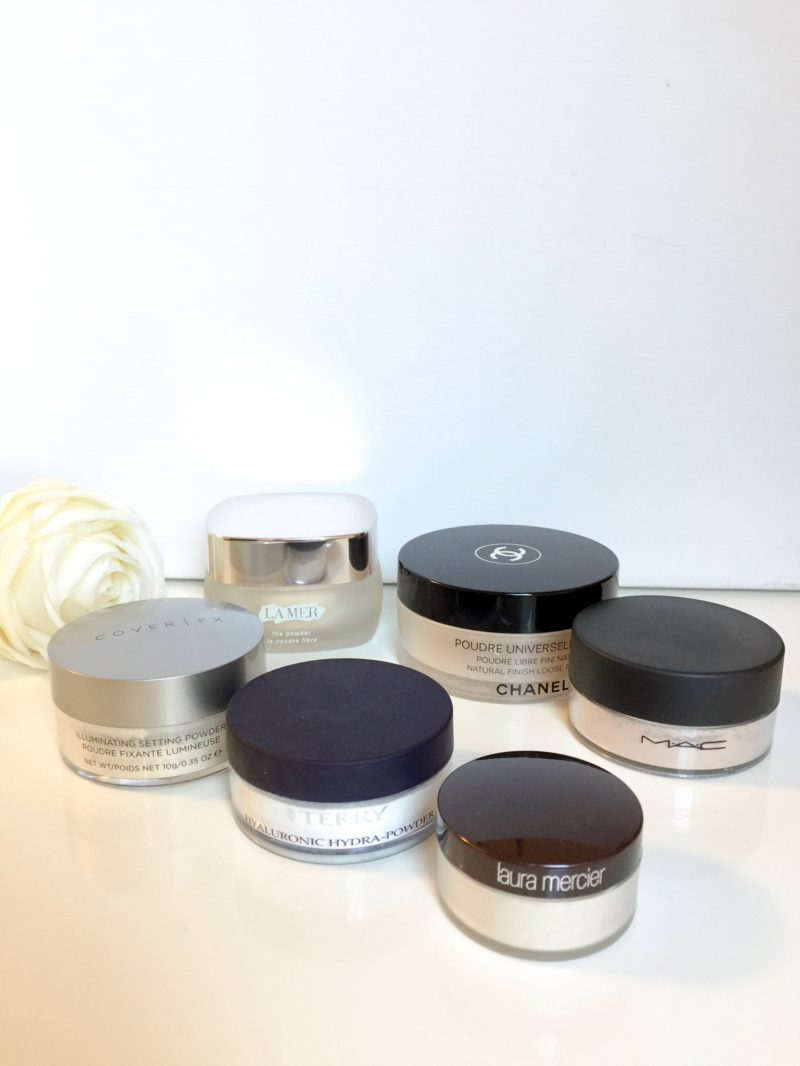 Loose powder-collection: Chanel, by terry, la mer
