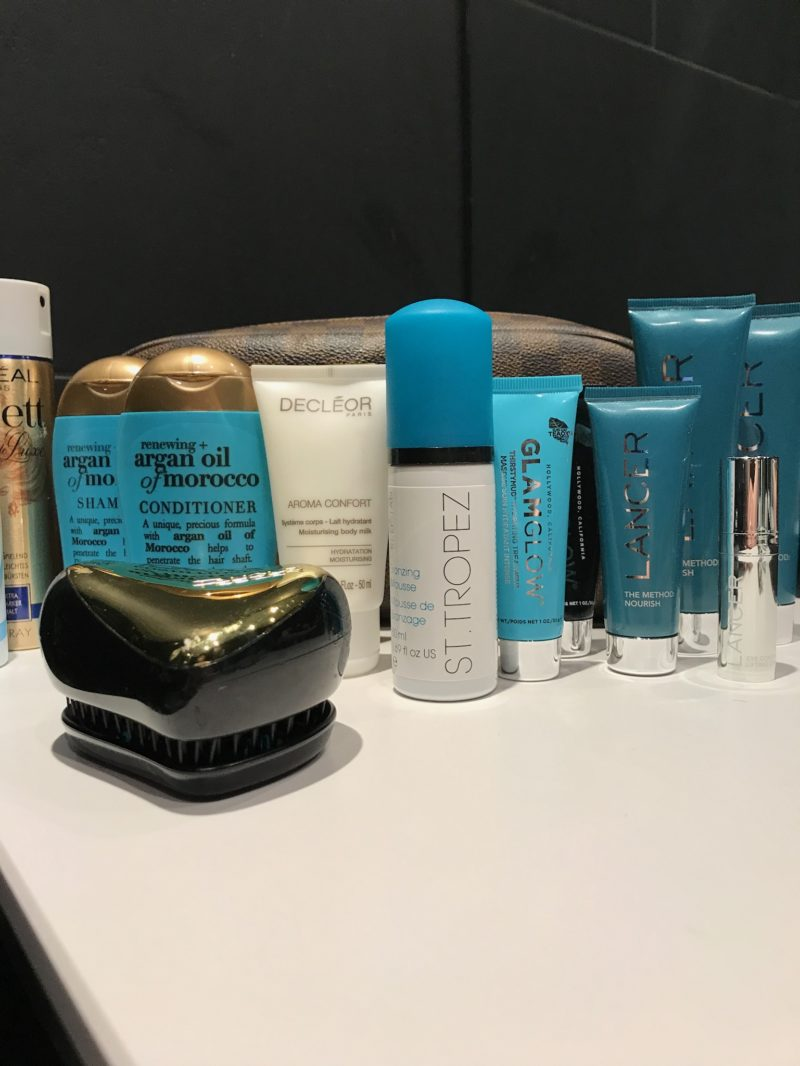 Beauty products in travel size