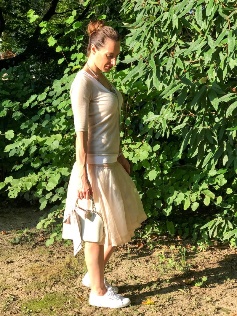 Evening sun in the park and my ballerina dress