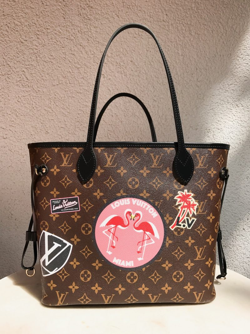 My lv world tour Neverfull MM front side