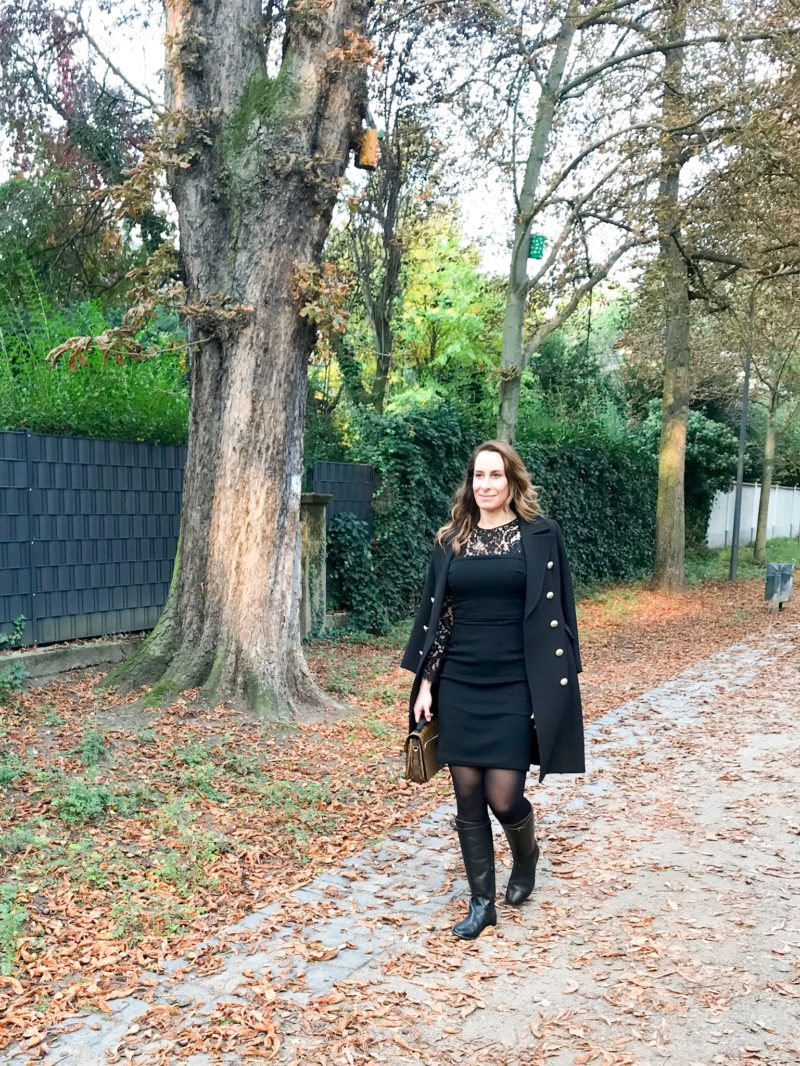 autumn style of my little black dress