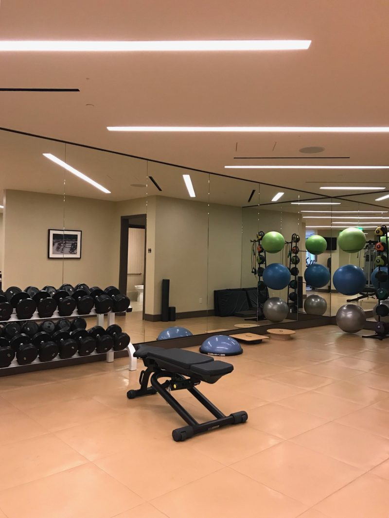 Loews regency hotel san francisco gym area