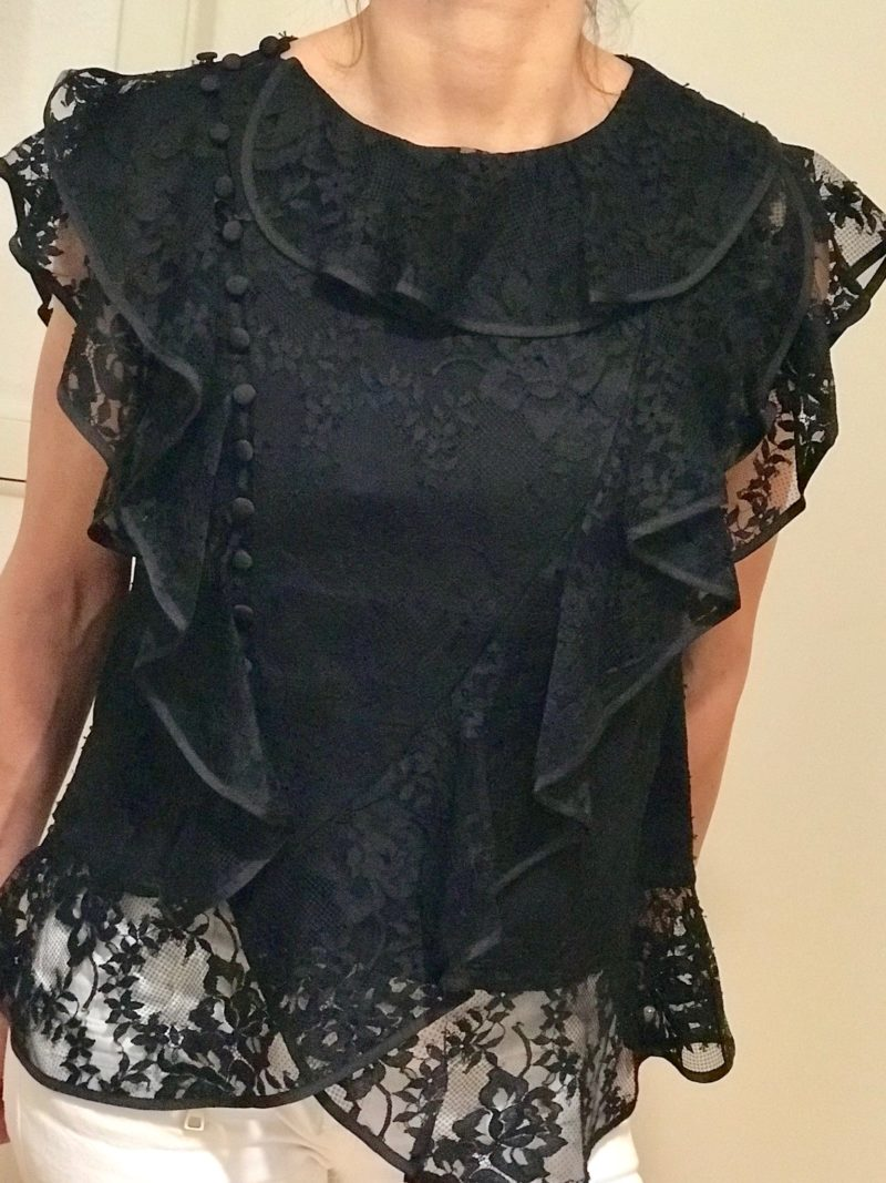erdemxhm black lace top form the designer collection