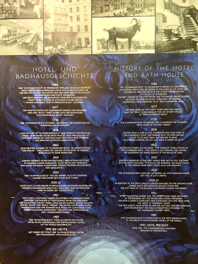 Staycation Wiesbaden Hotel history
